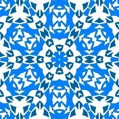 Kaleidoscope Madness In Blue Original by Tommytechno Sweden