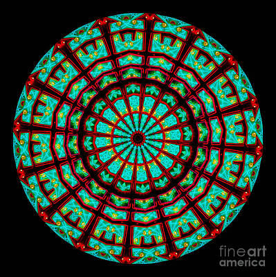Glow Digital Art - Kaleidoscope Of A Neon Sign by Amy Cicconi