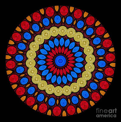 Kaleidoscope Of Colorful Embroidery Art Print by Amy Cicconi