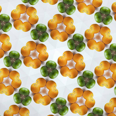 Yellow Photograph - Kaleidoscope Of Grapefruits And Limes by Hiroshi Watanabe