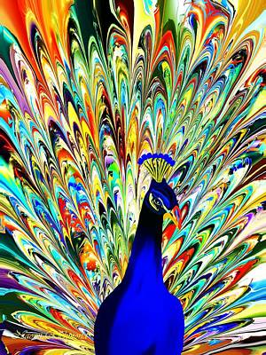 Digital Art - Kaleidoscope Peacock by Naomi Richmond
