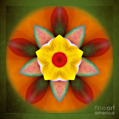 Digital Art - Kaleidoscope - Sunny Flower  by Gabriele Pomykaj