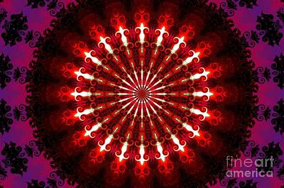 Kaleidoscope Sunset Art Print by Suzanne Handel