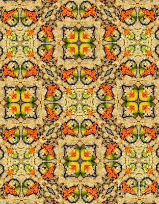Kaleidoscope Vegetable Sushi Art Print