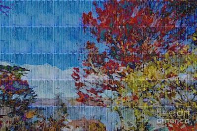 Autumn Scene Digital Art - Kaleidoscopic Autumn Scene II by Beverly Claire Kaiya