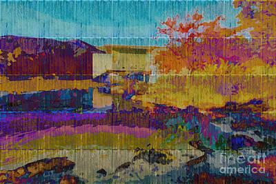 Autumn Scene Digital Art - Kaleidoscopic Autumn Scene V by Beverly Claire Kaiya