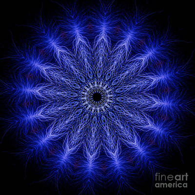 Mandala Photograph - Kaleidoscopic Image Created From Real Electrical Arcs by Amy Cicconi