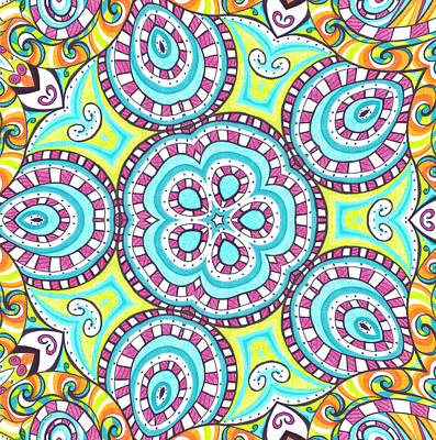Drawing - Kaleidoscopic Whimsy by Shawna Rowe