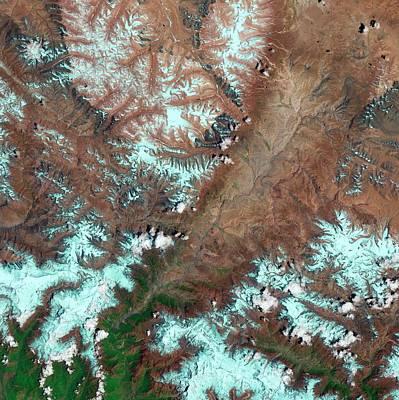 Kali Photograph - Kali Gandaki Gorge by Us Geological Survey