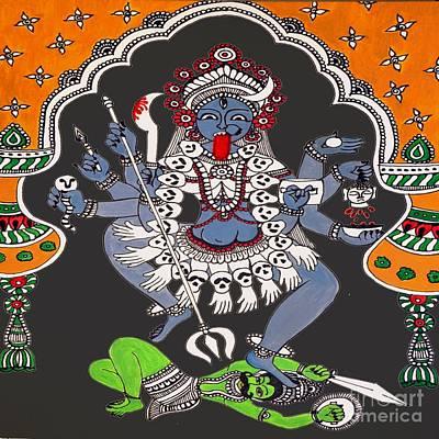 Kali Maa Art Print by Sketchii Studio