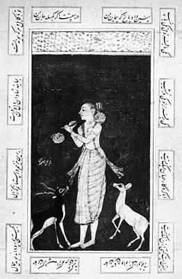 Persian Miniature Painting - Kalidasa (5th Century) by Granger