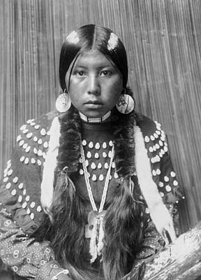 Wall Art - Photograph - Kalispel Indian Woman Circa 1910 by Aged Pixel