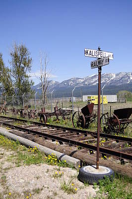 Daysray Photograph - Kalispell Crossing by Fran Riley