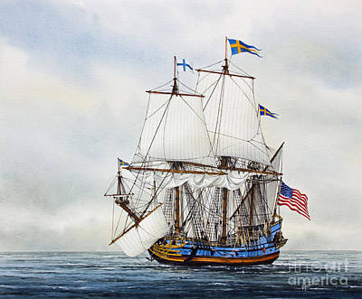 Kalmar Nyckel Art Print by James Williamson