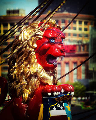 Photograph - Kalmar Nyckel Lion Figurehead by Bill Swartwout