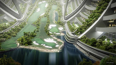 Digital Art - Kalpana One Golf Course by Bryan Versteeg