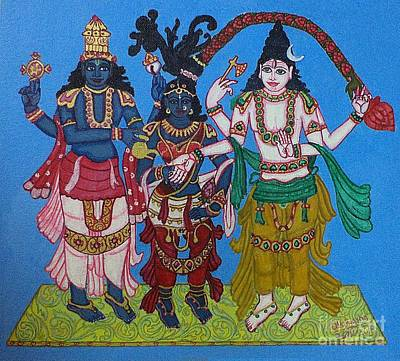 Painting - Kalyaana-sundara-murti by Pratyasha Nithin