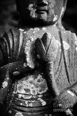 Lotus Flower Photograph - Kamakura Buddha Iv - Buddha Holding Lotus Flower by Dean Harte