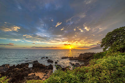 Photograph - Kamaole Beach Sunset by Pierre Leclerc Photography