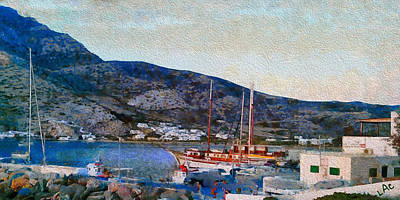 Kamares Port Art Print by Laurence Canter