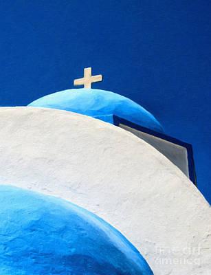 Fruits And Vegetables Still Life - Kamari Church Painting by Antony McAulay