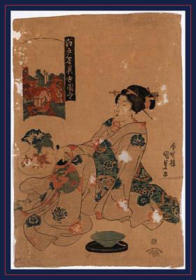 Wall Hanging Drawing - Kameido Tenjin, Utagawa Between 1818 And 1830 by Toyokuni, Utagawa (1769-1825), Japanese