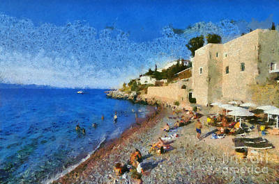 Painting - Kaminia Beach by George Atsametakis