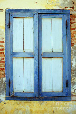 Photograph - Kampot Blue Shutters by Rick Piper Photography