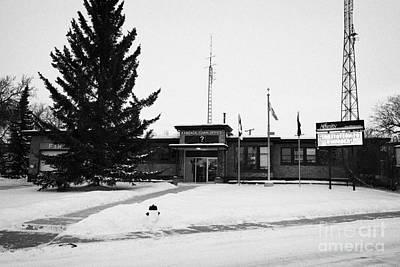 Kamsack Town Office Saskatchewan Canada Print by Joe Fox