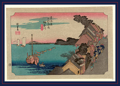 1833 Drawing - Kanagawa, Ando Between 1833 And 1836, Printed Later by Utagawa Hiroshige Also And? Hiroshige (1797-1858), Japanese