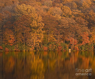 Kanawauke Lake Sundown Art Print by Susan Candelario
