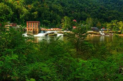 Art Print featuring the photograph Kanawha Falls by Dave Files