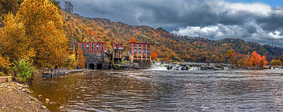 Photograph - Kanawha Falls In Autumn by Mary Almond