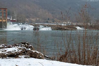 Photograph - Kanawha Falls - Winter by Paulette B Wright