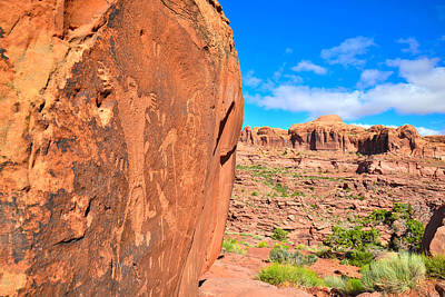 Photograph - Kane Creek Rock Art by Ray Mathis