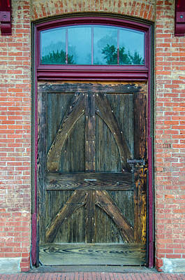 Photograph - Kane Depot Freight Door by Guy Whiteley
