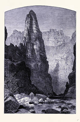 Canyon Drawing - Kaneb Canyon United States Of America by American School