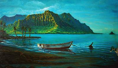 Painting - Kaneohe Bay Early Morn 1 by Joseph   Ruff