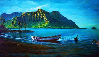 Painting - Kaneohe Bay Early Morn by Joseph   Ruff
