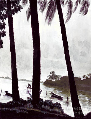 Painting - Kaneohe Bay From Bus Stop by Mukta Gupta