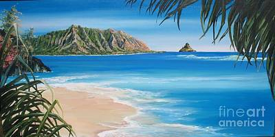 Wyland Painting - Kaneohe Bay Hawaii by Linda Briggs