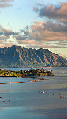 Kaneohe Bay Panorama Mural 2 Of 5 Art Print