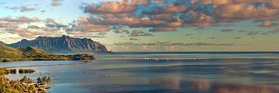 Photograph - Kaneohe Bay Panorama Mural by Dan McManus
