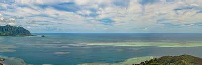 Photograph - Kaneohe Sandbar Panorama by Dan McManus