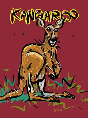 Hop Drawing - Kangaroo by Brett LaGue