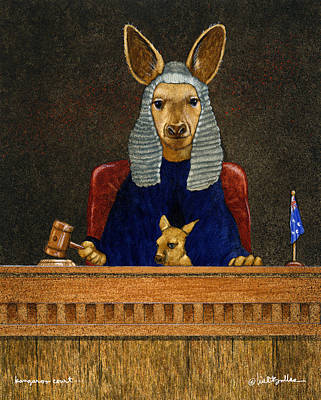 Kangaroo Painting - Kangaroo Court... by Will Bullas