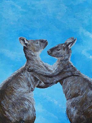 Kangaroo Island Kangaroos Print by Margaret Saheed