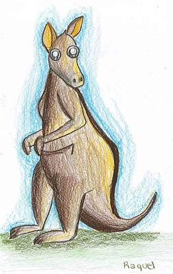 Drawing - Kangaroo From Down Under by Raquel Chaupiz