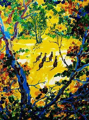 Marsupial Painting - Kangaroos by Hartmut Jager