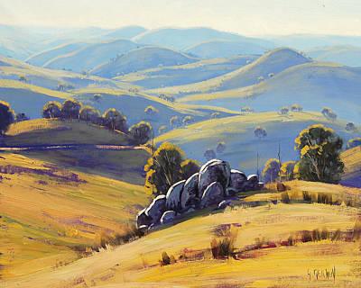 Australian Landscape Painting - Kanimbla Granite by Graham Gercken